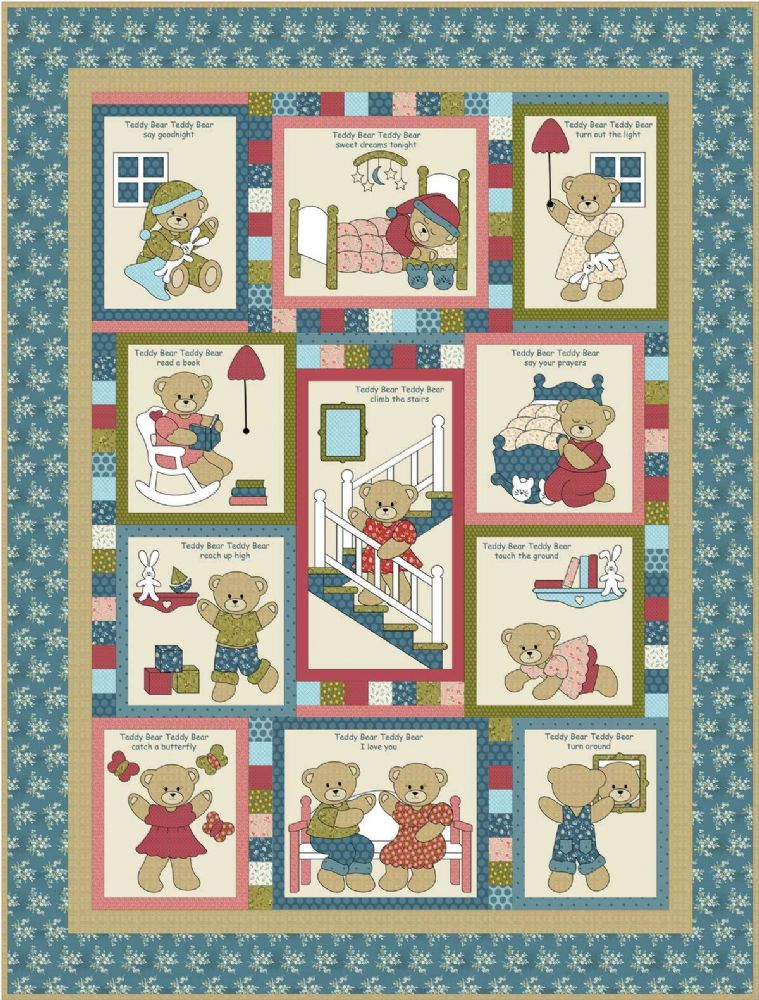Kids Quilts - Teddy Bear Quilt Pattern QLT086